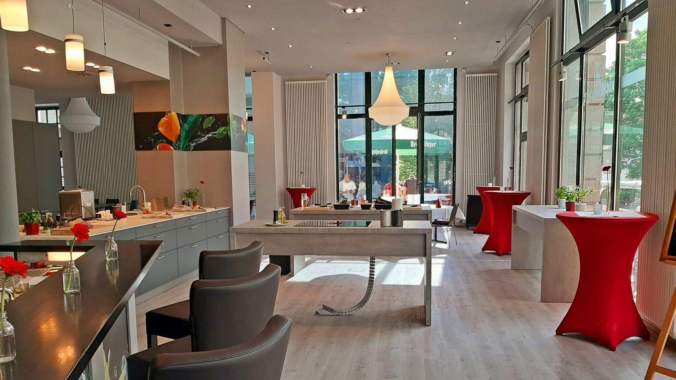 Hier sehen Sie die Innenansicht der Kochkurs Location Eventstudio Leipzig